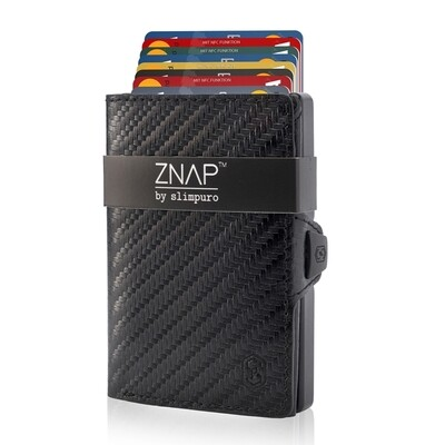 ZNAP - Carbon Echtleder, black  8 Karten