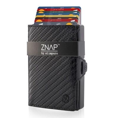 ZNAP - Carbon Echtleder,  black 12 Karten