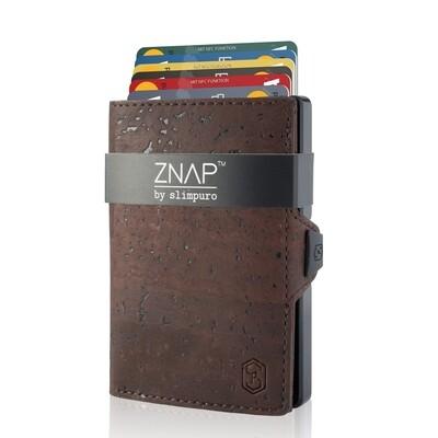 ZNAP - Korkleder braun,  8 Karten