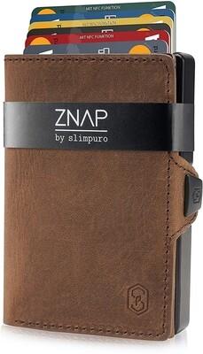 ZNAP - Vintageleder braun,  12 Karten