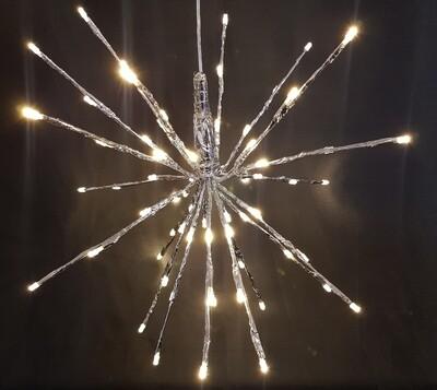 LED - Silberstern, 40-LEDs,  D30cm,  INDOOR