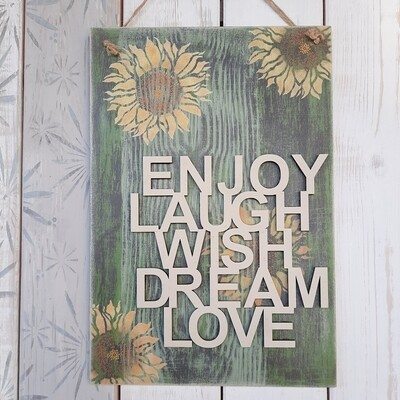 Schilderbilder Enjoy, Laugh ....