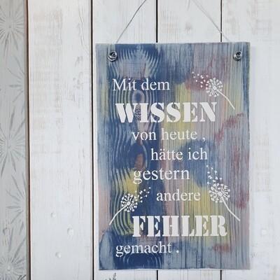 Schilderbilder Wissen von heute....