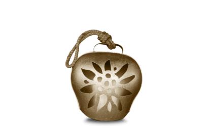 Glocke / Treichel Edelweiss gold, Midi