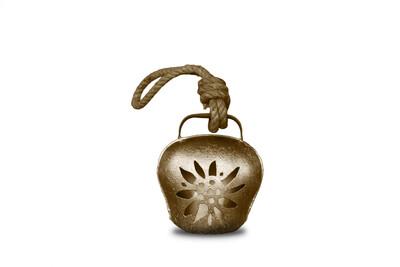 Glocke / Treichel Edelweiss gold, Mini