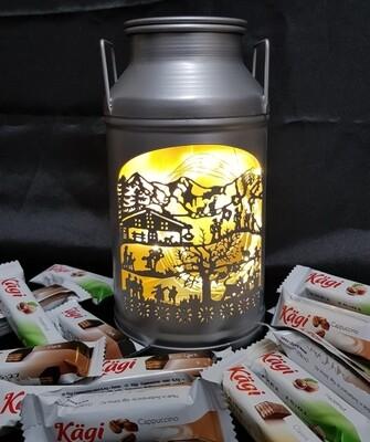 Milchkanne MINI La Tradition, ALU, gefüllt mit Kägifrettli