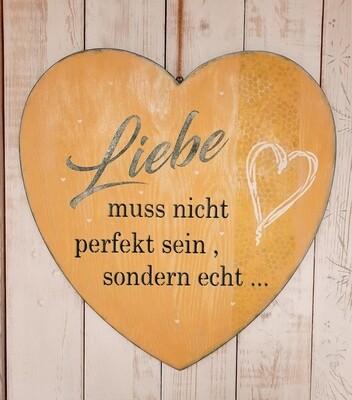 Schilderbilder  Liebe muss nicht perfekt sein, gelbtöne