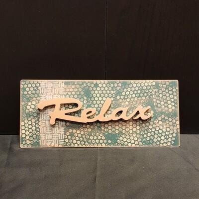 Schilderbilder Magnet RELAX, kupferfarbton