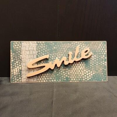 Schilderbilder Magnet SMILE, kupferfarbton