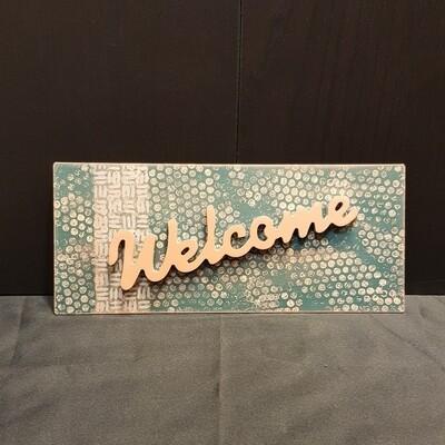 Schilderbilder Magnet WELCOME, kupferfarbton