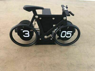 Tisch / Wanduhr Flip, Fahrrad, schwarz