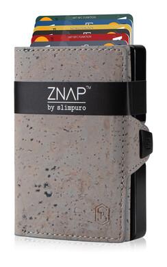 ZNAP - Korkleder grau,  12 Karten