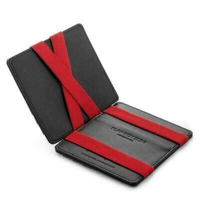 Flap Boy Slim RFID, black | red