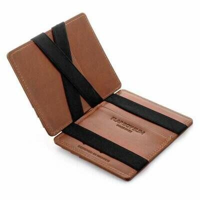 Flap Boy Slim RFID, Dark Brown | Black
