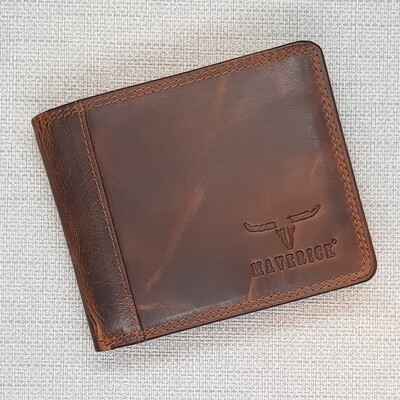 Wallet DALIAN, compact, brown, 11x9.8cm