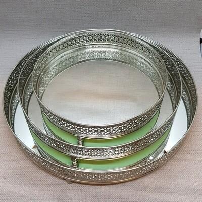 Spiegeltablar 3er - SET rund, D20/25/30cm