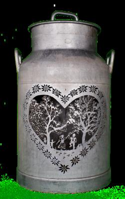 Milchkanne ORIGINAL, Les Amoureux, H56cm