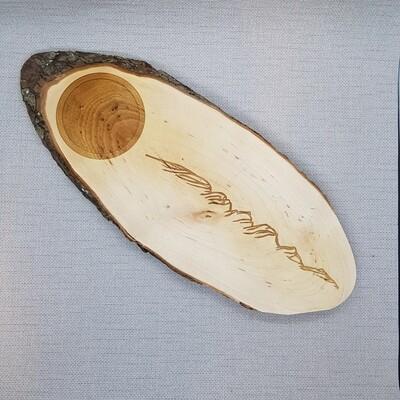 Servierplatte Scherenschnitt CHURFIRSTEN, 28cm