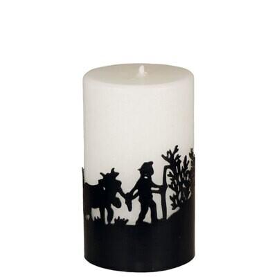 Kerze mit Metallring Alpaufzug 12 cm – ohne Duft