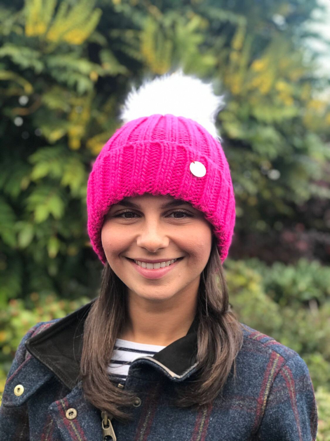 Beanie Hats with Removable Faux Fur Pompom