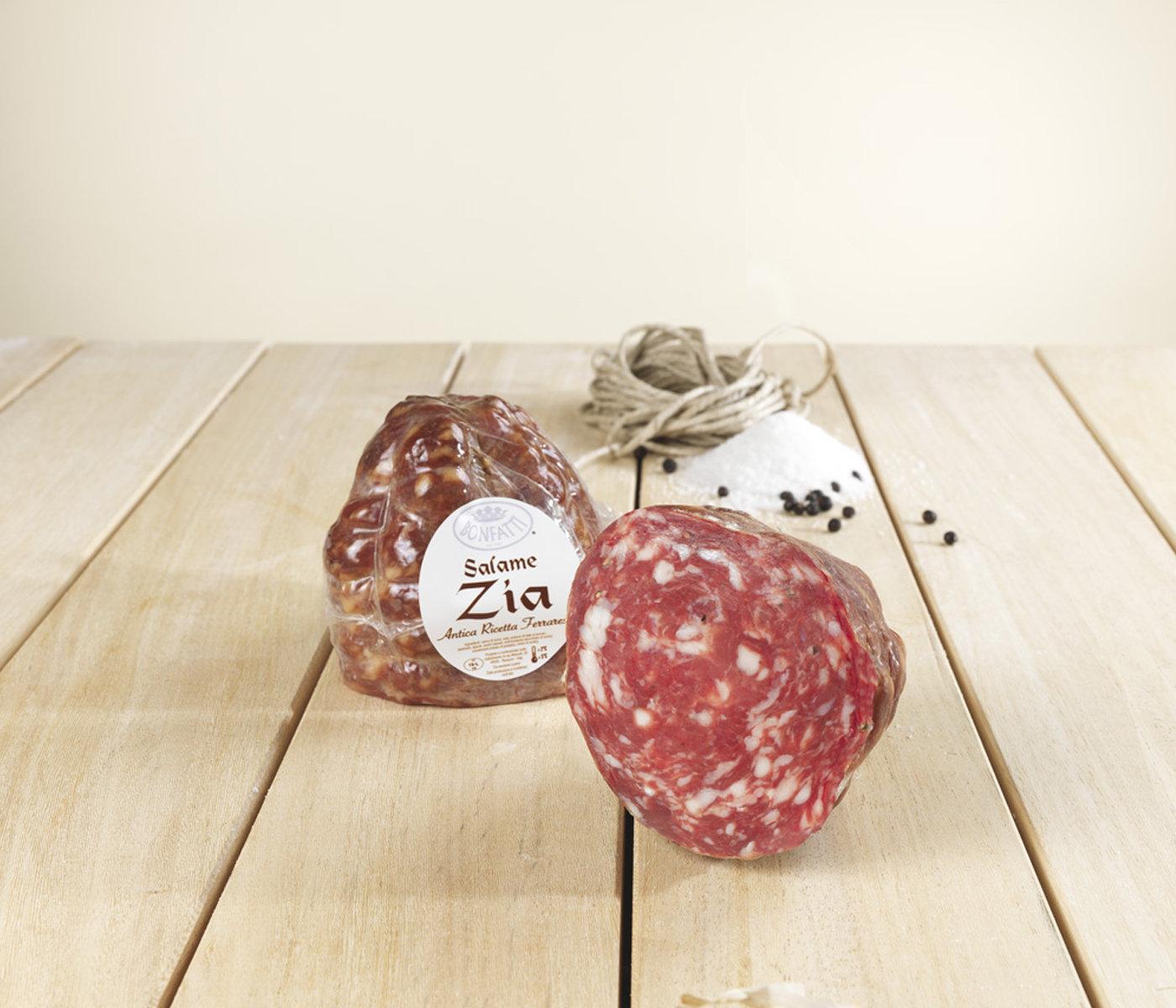 Salame Zia con aglio 600 gr