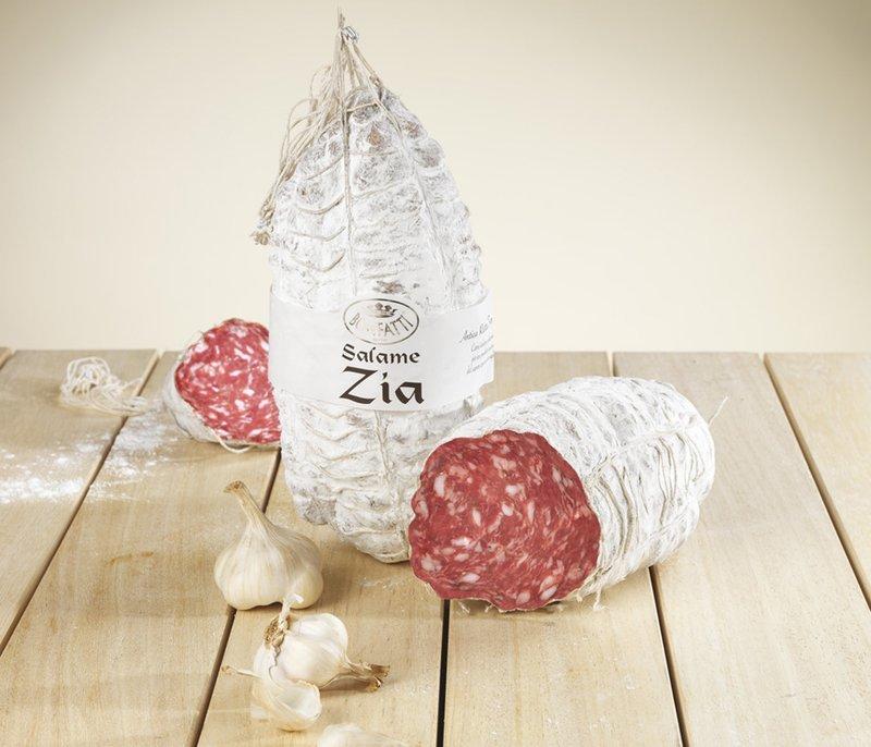Salame Zia intero con aglio 1,3 kg