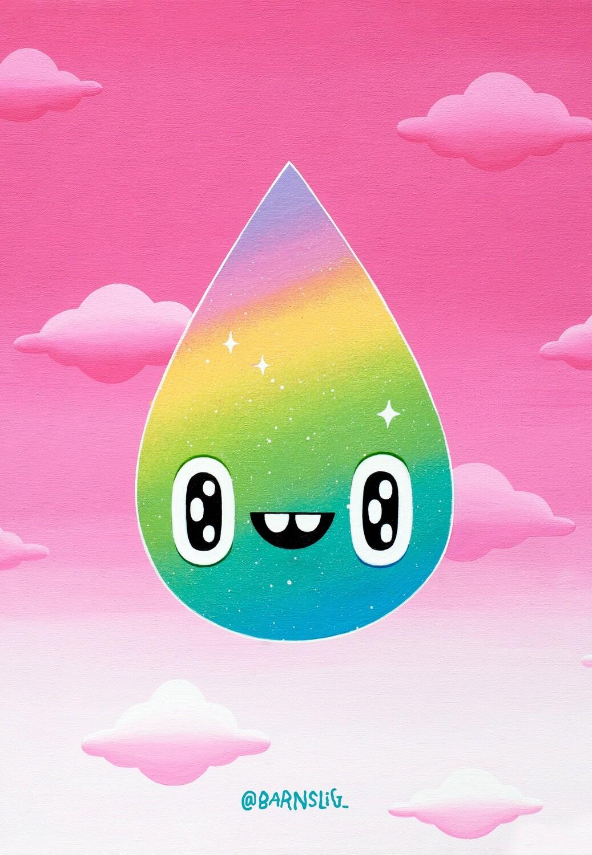 Rainbow droplet Postcard
