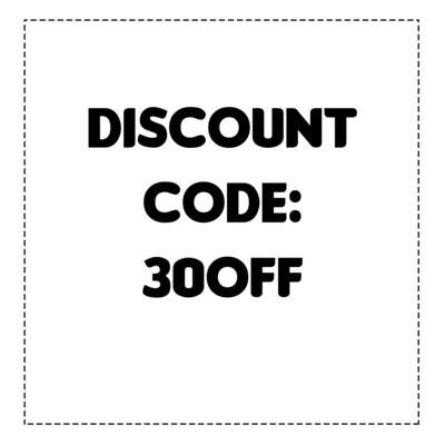 Discount code 30OFF