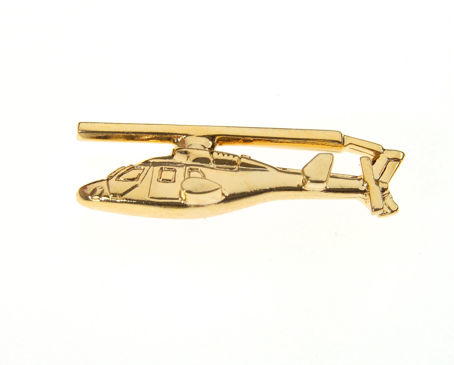 Bell 222 Gold Plated Tie / Lapel Pin