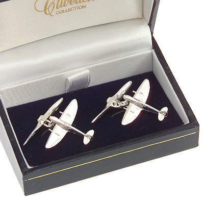 Spitfire Solid Silver Cufflinks