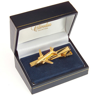 Boeing 737 Tiebar / Clip Gold Plated