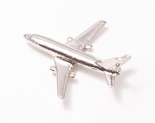 Boeing 737 Nickel Plated Tie / Lapel Pin