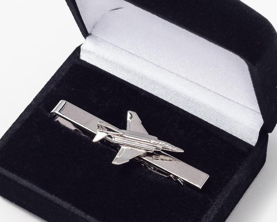 F4 Phantom II Tie Bar / Clip Nickel Plated