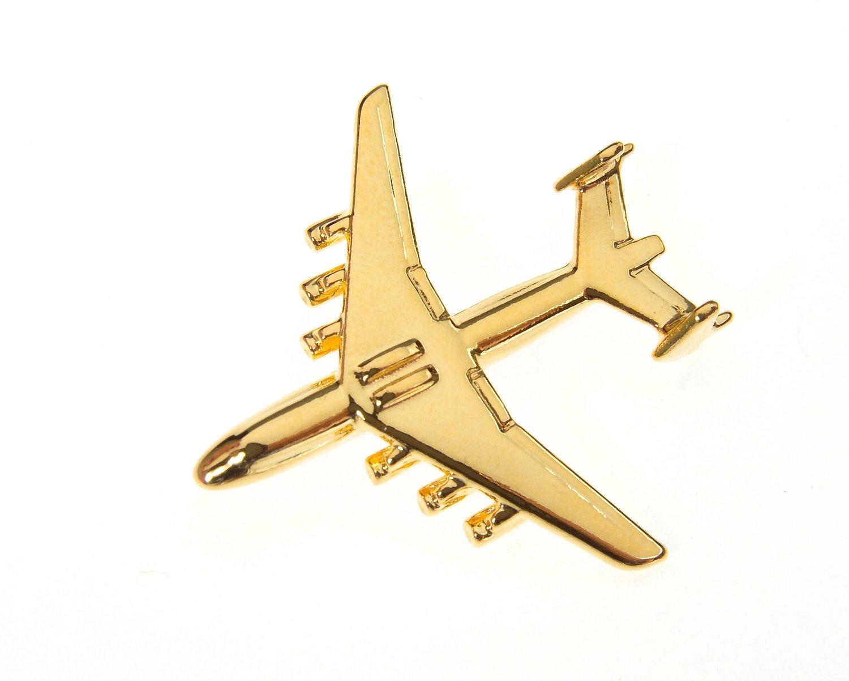 Antonov An225 Gold Plated Tie / Lapel Pin