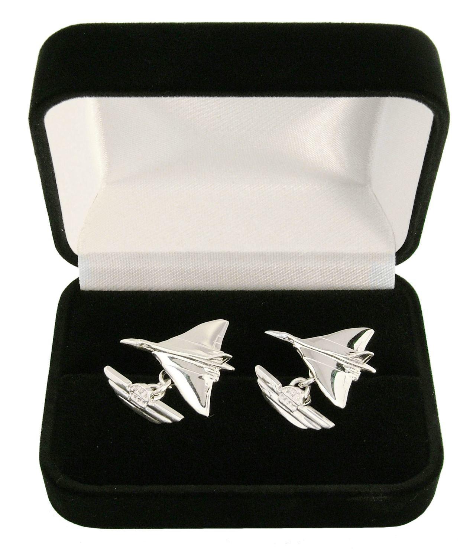 Vulcan Solid Silver Cufflinks