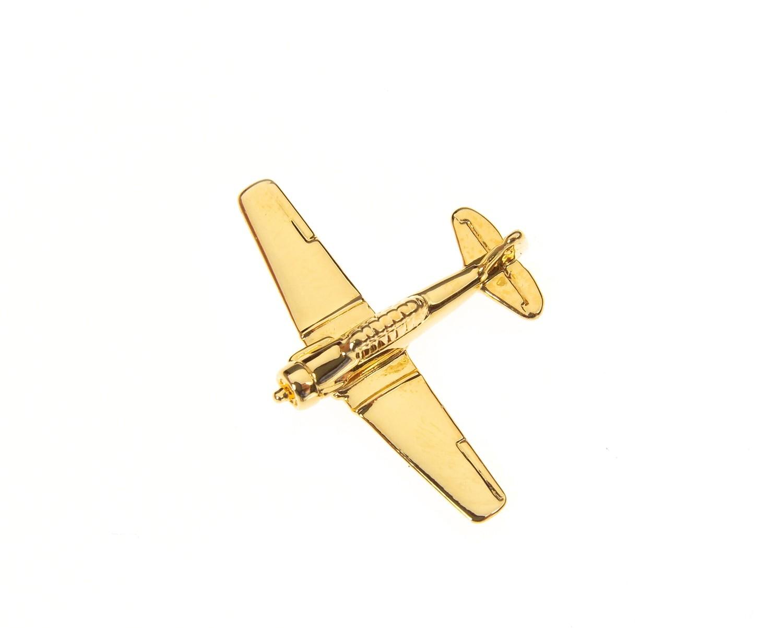 Harvard AT6 Gold Plated Tie / Lapel Pin