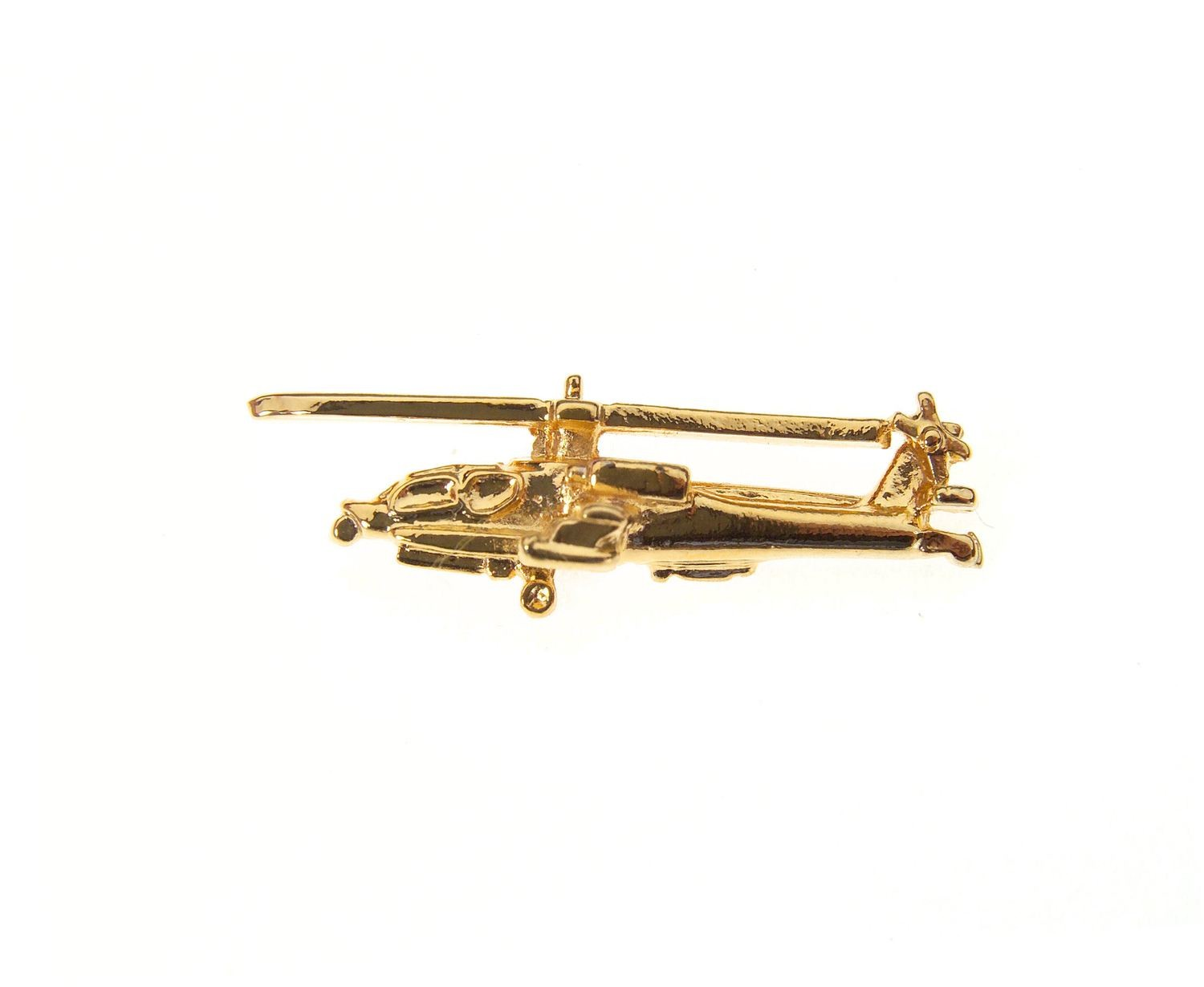 Apache AH-64 Gold Plated Tie / Lapel Pin