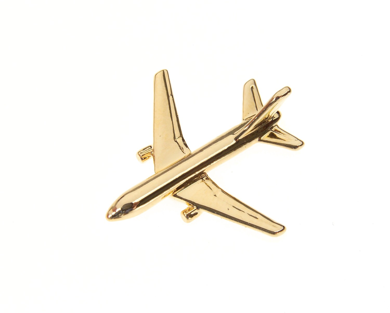 Boeing 767-200 Gold Plated Tie / Lapel Pin