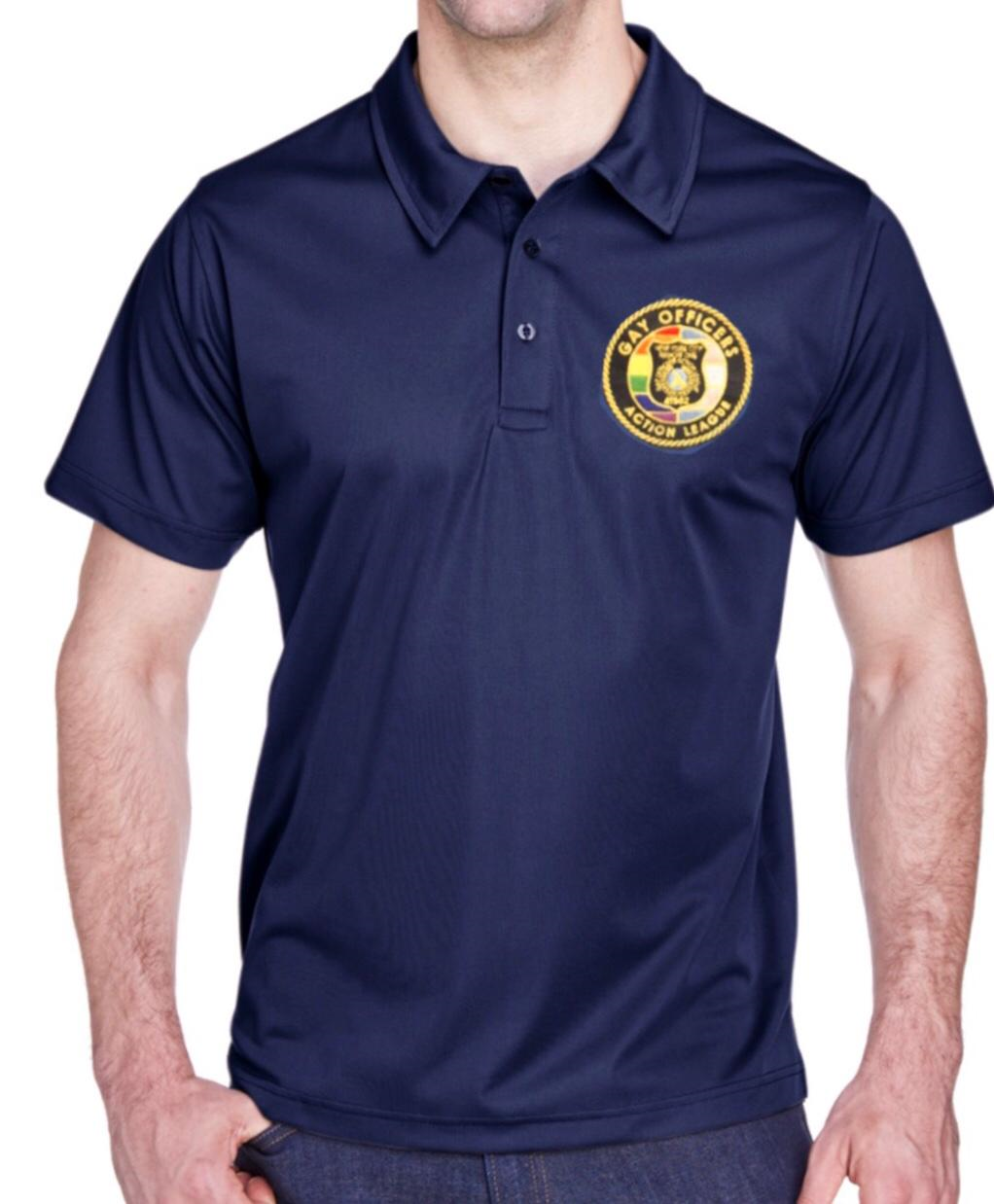 Navy Blue Polo with Embroidered Logo