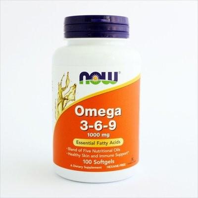 NOW Foods - Omega 3-6-9 1000 mg (100 kapsula)