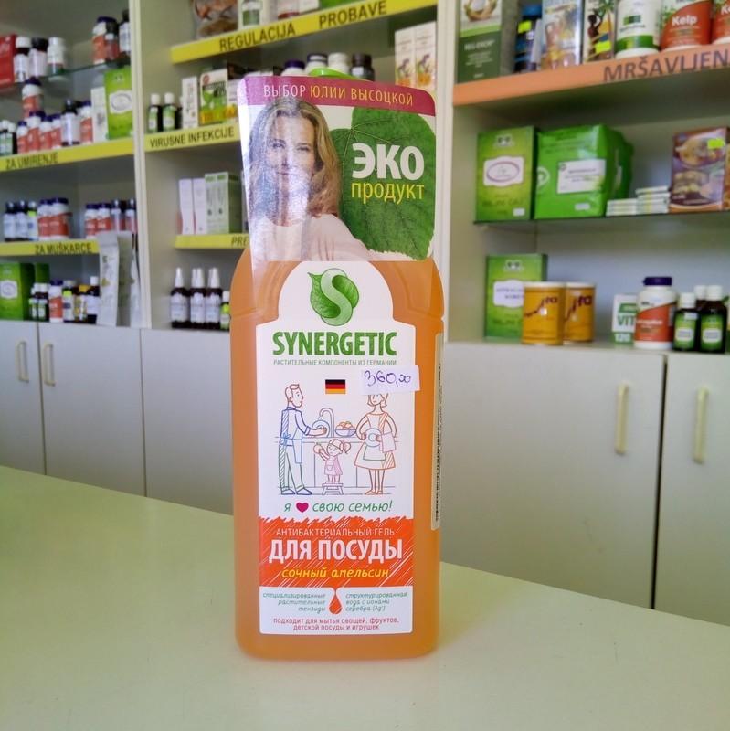 Synergetic bio gel za pranje poruđa, voća, povrća i igračaka sa mirisom narandže 500 ml - sa jonima srebrna