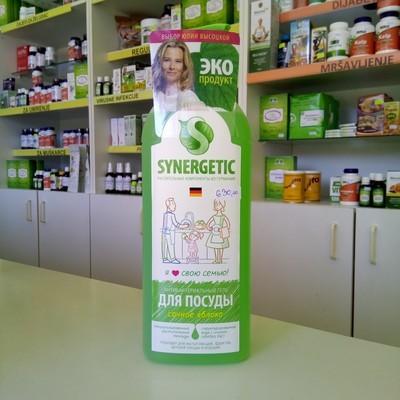 Synergetic bio gel za pranje posuđa, voća, povrća i igračaka sa mirisom jabuke 1000 ml - sa jonima srebra