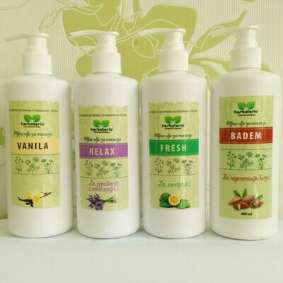 Herbateria - Biljno ulje za masažu 400 ml (više vrsta)