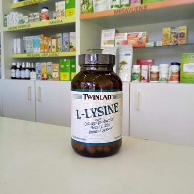 Twinlab L-lysine 500 mg 100 kps