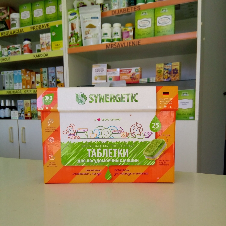 Synergetic Bezfosfatne tablete za mašinsko pranje posuđa 25 kom