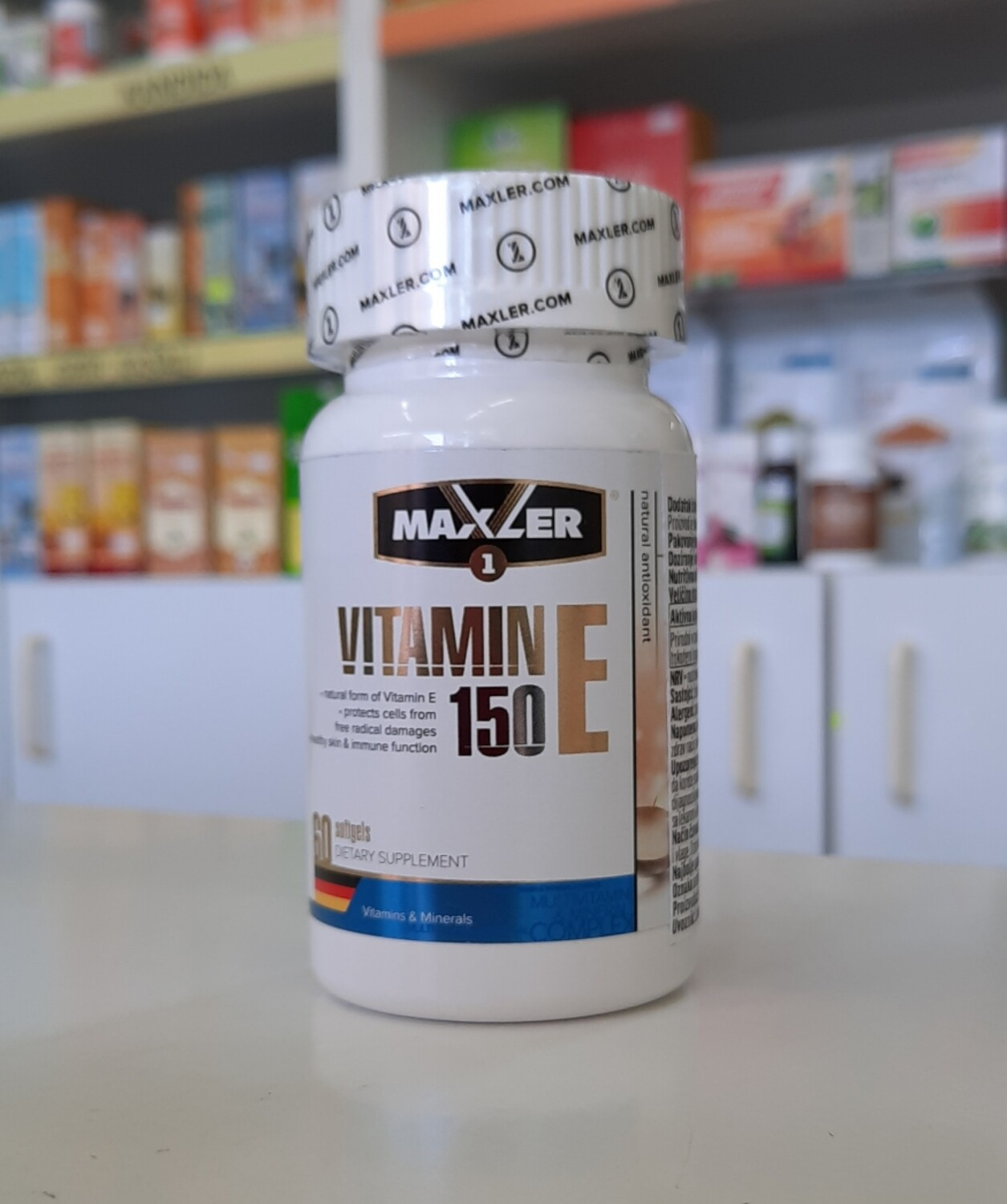 Maxler Vitamin E 150 mg 60 softgels