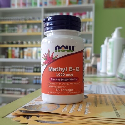NOW Methyl B12 1000 mcg 100 lozengi