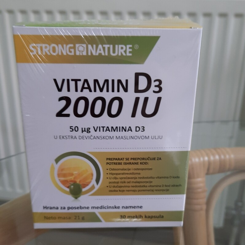 Strong Nature - Vitamin D3 2000 IU  30 mekih kapsula