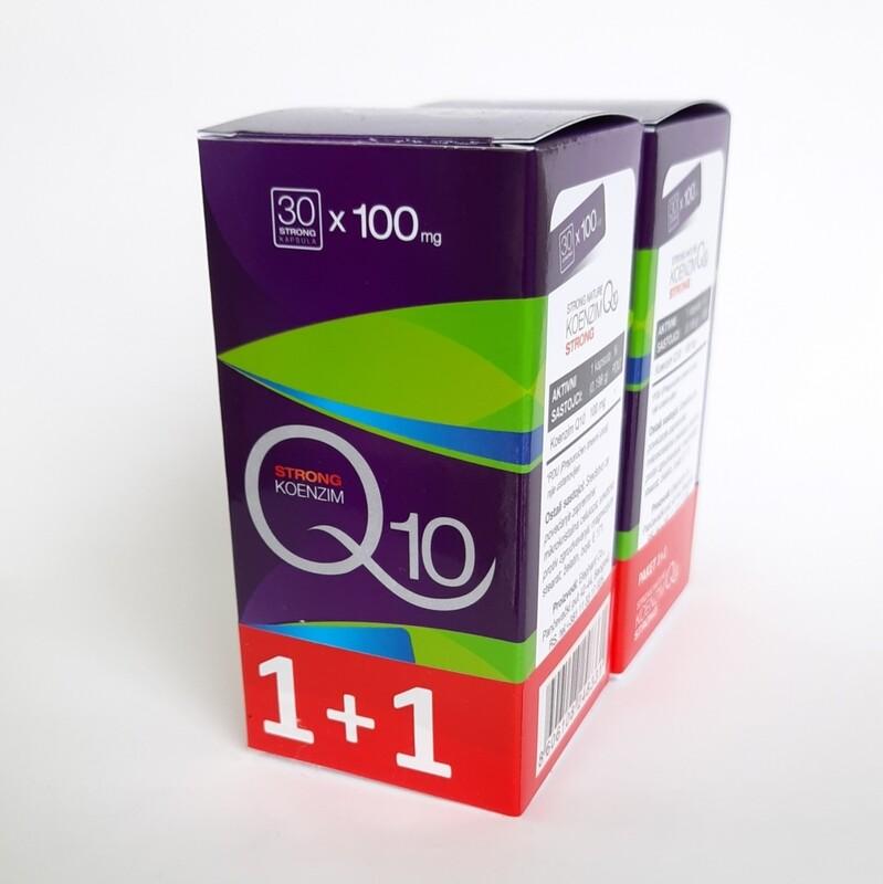 Strong Natura koenzim Q10 100 mg 30 kps 1+1 gratis