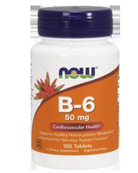 Now vitamin B-6 50 mg 100 tbl